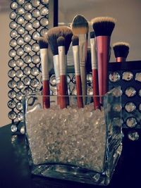 If I ever have my own personal little dressing table or vanity, will need this! DIY makeup brush holder