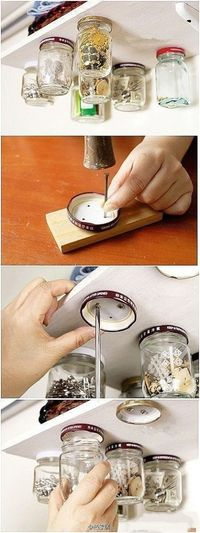 You could do this with filagree printed mason jars on a pretty vintage shelf and it would still look classy :)
