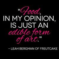 Leah Bergman does it all. Currently working as a freelance designer in California, Leah is also a food lover, cocktail shaker, and the blogger behind Freutcake.