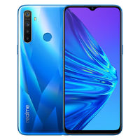 Realme 5 Global Version 6.5 inch Mimi-drop Fullscreen 5000mAh Android 9.0 12MP AI Quad Rear Cameras 3-Card Shot 4GB RAM 128GB ROM Snapdragon 665 AIE 4G Smartphone