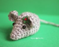 Twas the night before Christmas, when all through the house, Not a creature was stirring, not even a�€� crochet mouse! This teeny tiny crochet mouse is as cute as