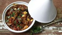 """Moroccan lamb tagine This authentic tagine recipe will take you to slow-cooked perfection in six simple steps �€"""" just kick back with a glass of wine until it's ready. Click the image to be taken to the recipe."""