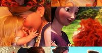 Rapunzel and Merida! These are oh-so-cute and they're by far my favorite Disney/Pixar heroines.