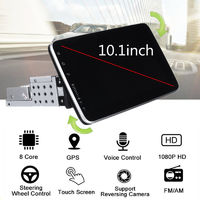 10.1 Inch 1DIN for Android 9.1 Car Stereo 180 Degree Rotation Multimedia Player 8 Core 1+16G 2.5D IPS Screen GPS 4G WIFI FM AM Radio
