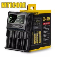 Nitecore SC4 3A 6A 4 Slot Super Battery Charger for Li-ion IMR LiFePO4 10340 10350 10440 10500 12340 12500 C D Batteries