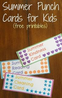 Looking for ways to keep kids busy this summer and on task with things like summer reading? Here's how summer punch cards for kids helped...