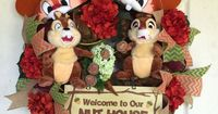 Chip and Dale Welcome Wreath by SparkleForYourCastle on Etsy