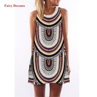 Fairy Dreams Summer Dress Women Sundress Plus Size Women Clothing Flowers Tiger Print casual Dresses vestido de festa curto 2017 $10.95