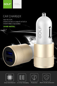 GOLF C13 2 USB Port 2.4A Fast Charge Car Charger for Samsung Xiaomi Huawei