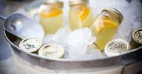 Lemonade, ready to drink, in mason jars. great idea for a summer party!