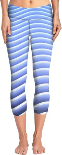 ROYP Curved Blue Striped Yoga Pants $62.00