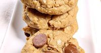 Sharing an Oatmeal Peanut Butter Cup Chocolate Chip Cookies Recipe- such a good cookie recipe!