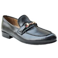 Johny Weber Handmade Black Leather Mixed Loafers $224.00