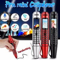 SERVO K07 Multi-function Flashlight Bluetooth Dialer Mini Cellphone with Recording pen