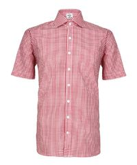 Red Gingham Half Sleeves Cotton Shirt �'�799.00