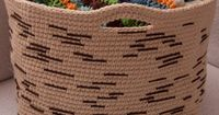 "Birch Bark Basket Posted on March 29, 2013 by Tamara Kelly	 Feeling inspired by nature? I was when I came up with the Birch Bark Basket! This easy crochet pattern is almost more of a technique and tutorial �€"" you can crochet big baskets, small..."