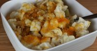 cauliflower bake - I will add turmeric. Cauliflower + turmeric= no chance of prostate cancer!
