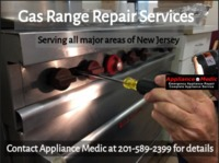 Now get gas range repair services in all the leading areas of New Jersey with Appliance Medic. Our experts can repair any models of Gas Range of all the top brands. You can schedule your repair service on call, email (info@appliance-medic.com) or ...
