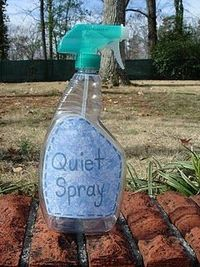 The empty, clean bottle might help quiet the kids down when walking outside, if a fun-loving way.