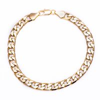 Men's Luxury 14k Gold Layered Solid Cuban Curb Bracelet £14.95