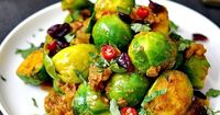 indian spiced brussels sprouts - YUM! Just use a non-dairy sub (like Earth Balance or coconut oil) for the butter.