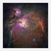 Orion Nebula Glicee Print on Canvas