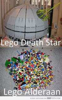 LEGO Death Star and Alderaan