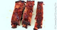 Cinnamon and chipotle hickory smoke pork spareribs. The very first ribs I ever cooked. They start with a sweet and smoky rub of cinnamon and chipotle and are fi