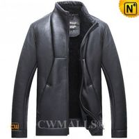 Haute Couture | Men Sheepskin Shearling Biker Jacket CW807649 | CWMALLS.COM