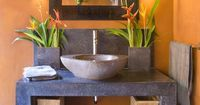 Balinese style powder room
