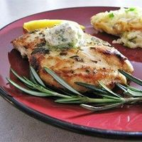Rosemary Lemon Grilled Chicken - Allrecipes.com Note: Use olive oil instead of butter!