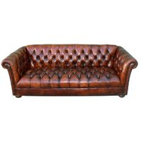 1930s Vintage Leather Tufted Chesterfield Style Sofa C. 1930's | From a unique collection of antique and modern sofas at http://www.1stdibs.com/furniture/seating/sofas/