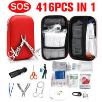 416Pcs First Aid Outdoor Emergency SOS Survival Kit Gear For Home Outdoor Camping Hiking
