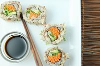 Easy to prepare, these quinoa veggie rolls take traditional sushi to a new level. Healthy and nutritious, they make a great light lunch or anytime snack.