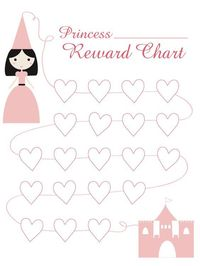 Princess Reward Chart, I don't like the weeks, cause then they see all the days they fail, rather than a path to success http://www.mamatoga.com/wp-content/uploads/2012/01/Princess-Reward-Chart 1.png
