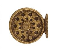 Buck Snort Lodge Decorative Hardware Cabinet Knobs and Pulls Fly Fishing Reel $11.50