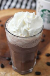 Copycat Starbucks Mocha Frappuccino Easy Recipe! Mmmm You will want to try this Homemade Blended Coffee Recipe!