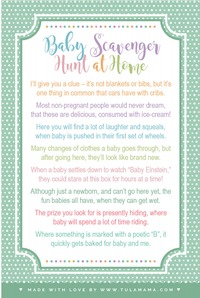 Baby shower scavenger hunt