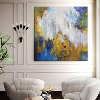 Abstract painting acrylic painting on canvas huge size Wall Art Pictures for living room Home Decor Hand Painted color abstract painting $104.75