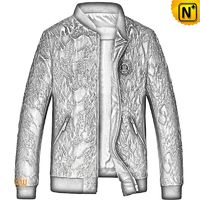 CWMALLS® Canberra Men Embroidered Leather Biker Jacket CW808036[Patented Product, Global Free Shipping]