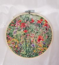A Different Kind of Hoop Art, Picture Printed On Satin, Sublimation Picture Hoop Art, Gift For Her, Free Shipping $24.00