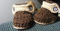 Free Crochet pattern Ravelry: Barb-in-wpg's BABY BOOTS - crochet baby uggs/moccasins