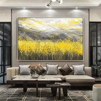 Abstract floral paintings Gold art mountains art Acrylic Paintings on canvas Original Art wall Pictures home decor cuadros abstractos $109.00