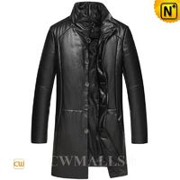 CWMALLS® Milwaukee Down Leather Trench Coats CW817003