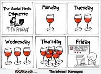 Friday social media etiquette funny cartoon #funnycartoon #funny #humor #lol #PMSLweb