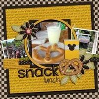 Snack Lunch - MouseScrappers - Disney Scrapbooking Gallery
