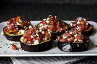 Roasted Eggplant with Tomatoes and Mint {Smitten Kitchen}