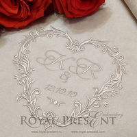 Machine Embroidery Design Wedding Monogram Blank - 4 sizes $6