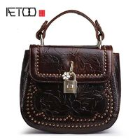 AETOO genuine leather head layer oil wax leather handbag shoulder bag R973.20