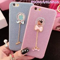 3D Cute Phone Case for iphone 5 5s SE 6 6s Plus 7 7 Plus Glitter Bling Diamond Rhinestone Butterfly Bowknot $11.81